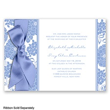 Floral Patterned - Bluebird - Invitation