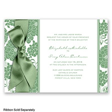 Floral Patterned - Clover - Invitation