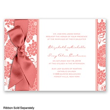 Floral Patterned - Coral Reef - Invitation