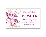 Flourish with Golden Shadow - Save the Date Magnet