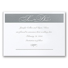 Silver Save the Date