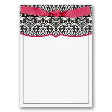 Black Damask with Pink Trim