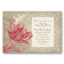 Vintage Love - Apple - Invitation