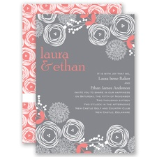 Bright Blooms - Coral Reef - Invitation