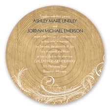 Woodgrain Circle - Invitation
