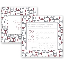 Looking Sharp - Rosewood - Invitation