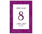 Treasured Jewels Pattern - Sangria - Table Number