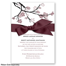 Budding Beauty - Rosewood - Invitation