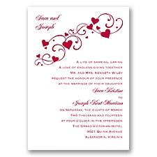 Bundle Happy Hearts - Apple - Invitation