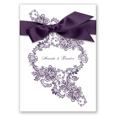 Sheer Lace Invitation