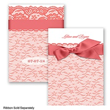 Lace Tranquility - Guava - Invitation