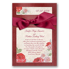 Treasured Jewels Vintage Garden - Apple - Invitation