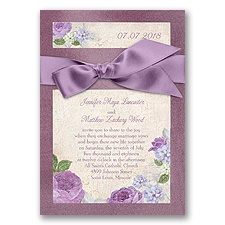 Treasured Jewels Vintage Garden - Amethyst & Wisteria Invitation