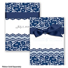 Sentimental Lace - Marine - Invitation