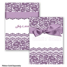 Sentimental Lace - Wisteria - Invitation