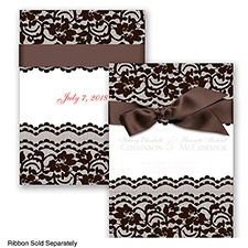 Sentimental Lace - Chocolate - Invitation