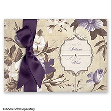 Sheer Splendor - Plum - Invitation