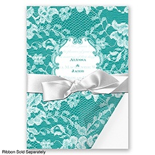 Lace Wrap - Jade - Invitation