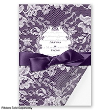 Lace Wrap - Plum - Invitation