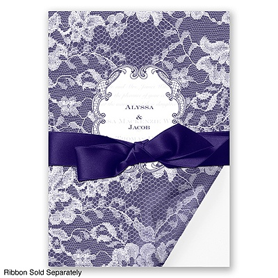 Lace Wrap - Lapis - Invitation