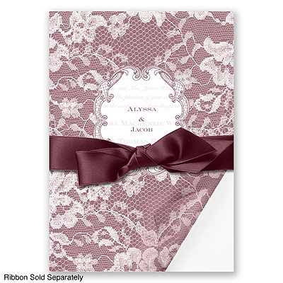 Lace Wrap - Rosewood - Invitation