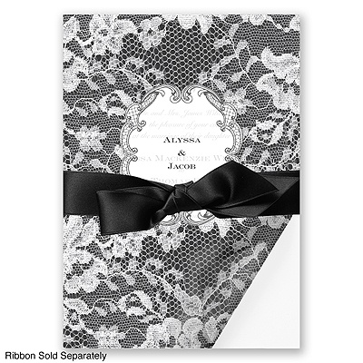 Lace Wrap - Black - Invitation