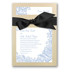 Treasured Jewels Lace Treasures - Champagne Invitation
