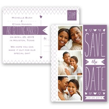 Sweetly Sketched - Wisteria - Save the Date Postcard
