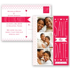 Sweetly Sketched - Poppy - Save the Date Postcard