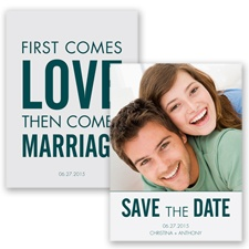First Comes Love - Gem - Save the Date