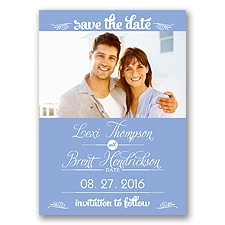 Sweetest Date - Bluebird - Photo Save The Date Magnet