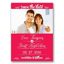 Sweetest Date - Poppy - Photo Save The Date Magnet