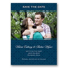 Victorian Charm - Peacock - Save the Date