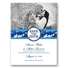 Camo Cutie - Cornflower - Save the Date
