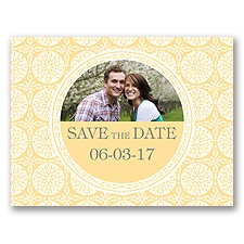 Exotic Love - Buttercream- Save the Date Postcard