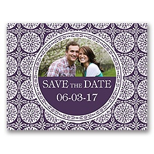 Exotic Love - Plum - Save the Date Postcard