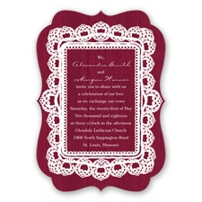 Mahogany Lace - Apple - Invitation