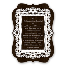 Mahogany Lace - Chocolate - Invitation