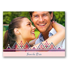 Southwestern Sweethearts - Marine -  Save the Date Postcard