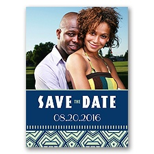 Geometric Tribal - Meadow - Save the Date Postcard