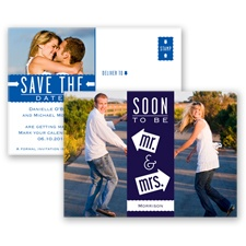 Fun-Filled Photo - Lapis - Save The Date Postcard