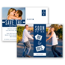 Fun-Filled Photo - Marine - Save The Date Postcard