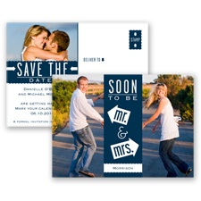 Fun-Filled Photo - Peacock - Save The Date Postcard