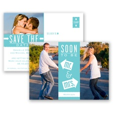 Fun-Filled Photo - Pool - Save The Date Postcard