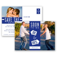 Fun-Filled Photo - Regency - Save The Date Postcard