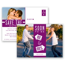 Fun-Filled Photo - Sangria - Save The Date Postcard