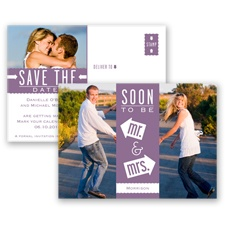 Fun-Filled Photo - Wisteria - Save The Date Postcard