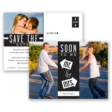 Fun-Filled Photo - Black - Save The Date Postcard