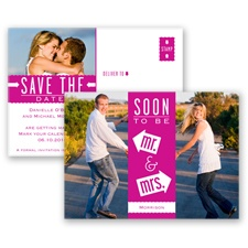 Fun-Filled Photo - Begonia - Save The Date Postcard