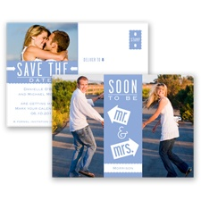 Fun-Filled Photo - Bluebird - Save The Date Postcard